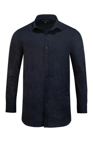 SIGNATURE JACQUARD SHIRT NAVY 300x457 - Mayfair Shirt White