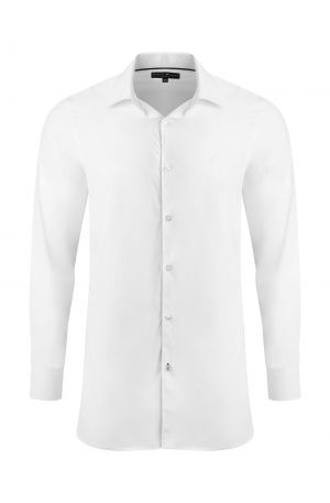 White Classic Slim Fit Shirt 300x457 - Shop Benedict Raven