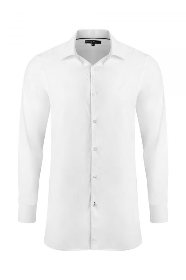 White Classic Slim Fit Shirt - Mayfair Shirt White