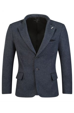 Italian Wool Blend Blazer Blue 300x457 - Soho Roll Neck Grey Melange