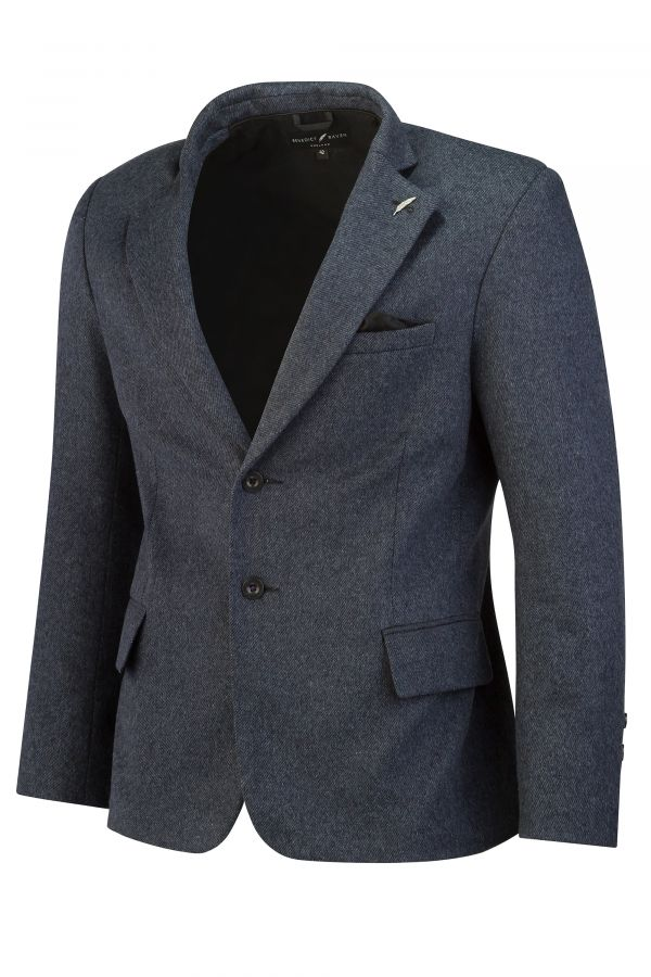 Italian Wool Blend Blazer Blue SIDE - Ascot Blazer Blue