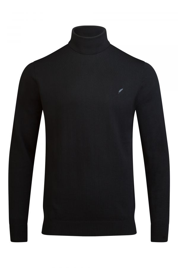Merino Wool Roll Neck Black - Soho Roll Neck Black