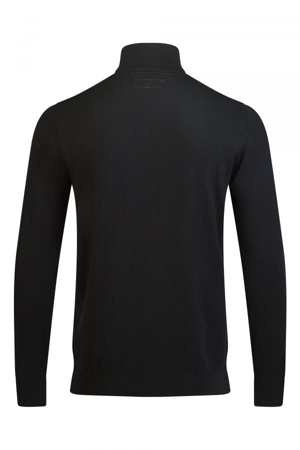 Merino Wool Roll Neck Black Back - Soho Roll Neck Black