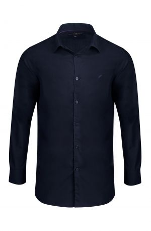 Navy Classic Slim Fit Shirt 300x457 - Shop Benedict Raven