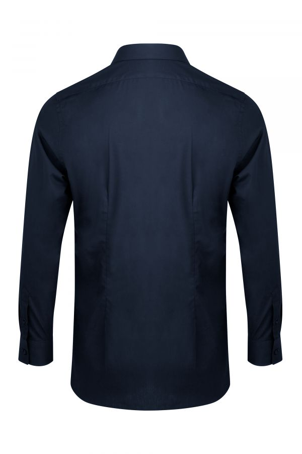 Navy Classic Slim Fit Shirt Back - Mayfair Shirt Navy