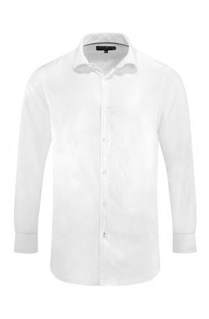 SIGNATURE JACQUARD SHIRT WHITE 300x457 - Mayfair Shirt White
