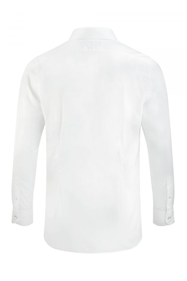 SIGNATURE JACQUARD SHIRT WHITE BACK - Chelsea Shirt White
