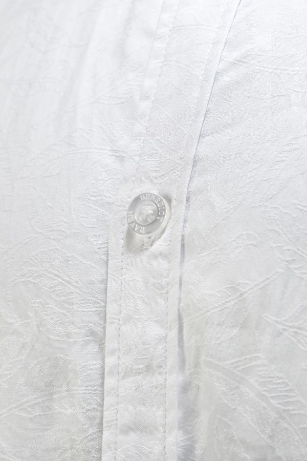 SIGNATURE JACQUARD SHIRT WHITE DETAIL - Chelsea Shirt White