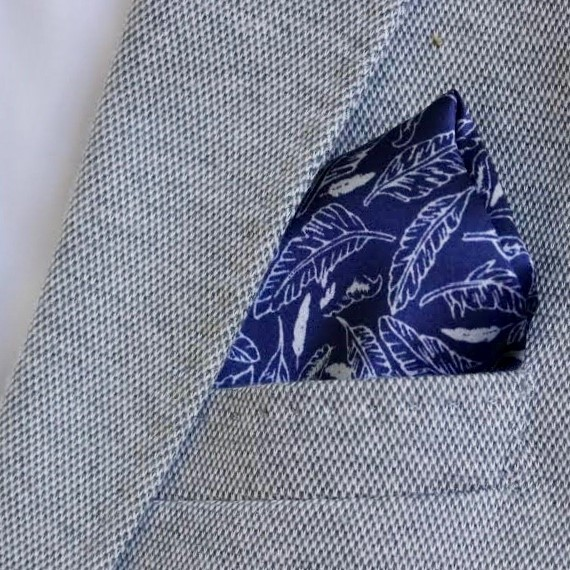 Pocket Sq 1 - Signature Silk Pocket Square Navy