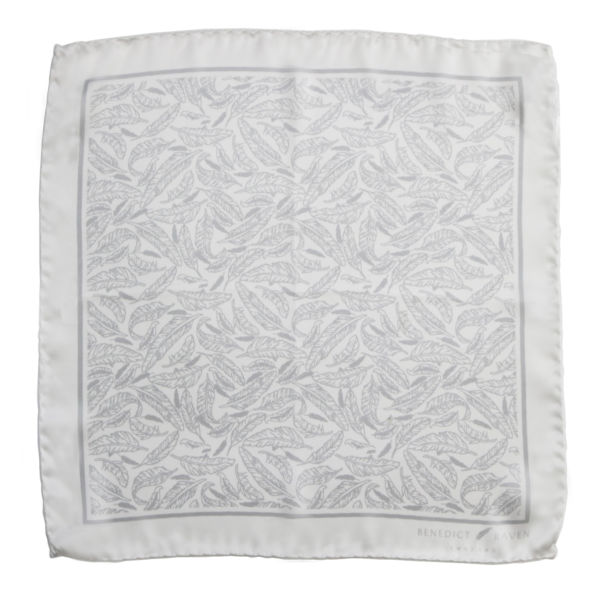 Pocket Sq 6 - Signature Silk Pocket Square White