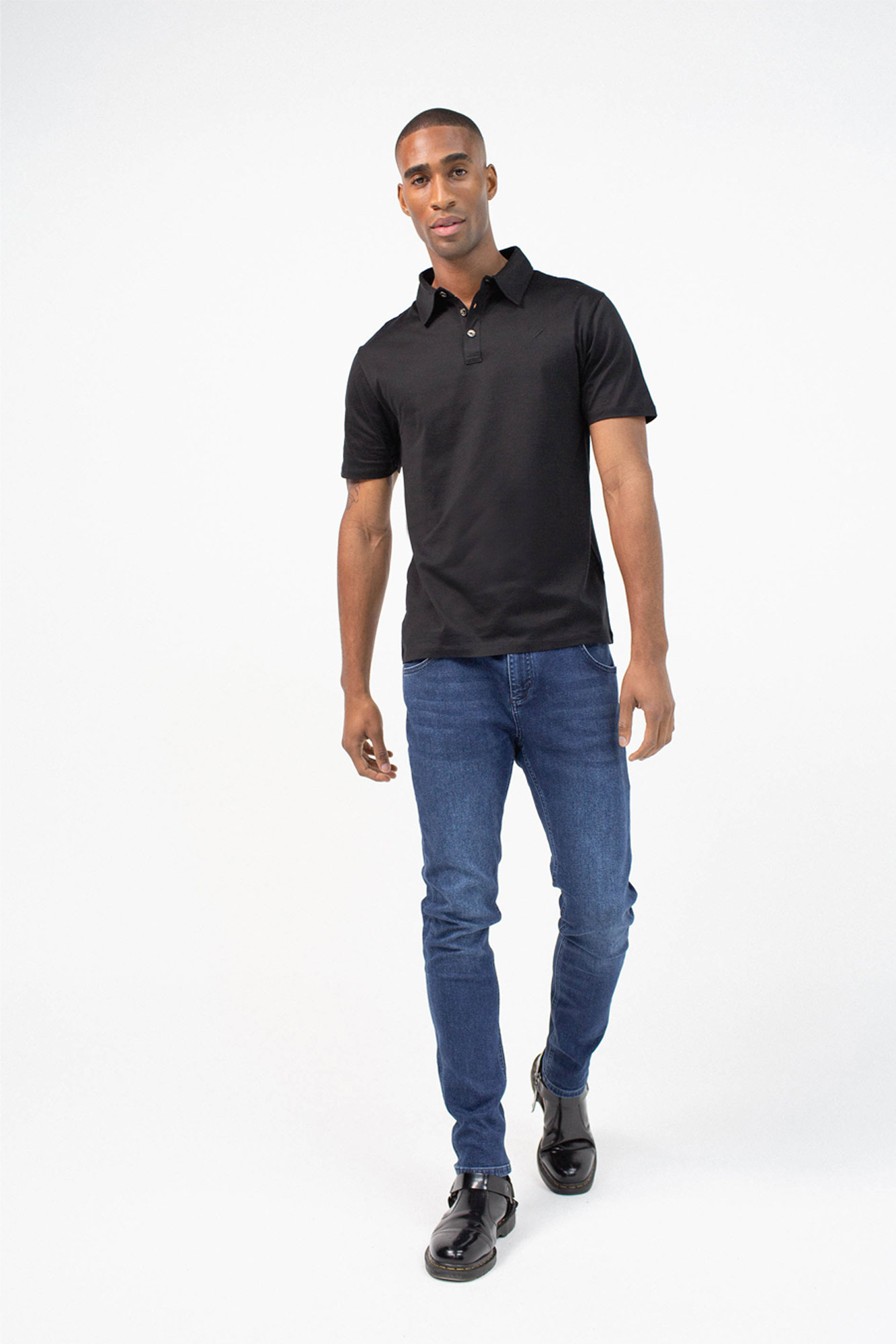 BenedictRaven Studio 051 1 - Monaco Polo Shirt Black