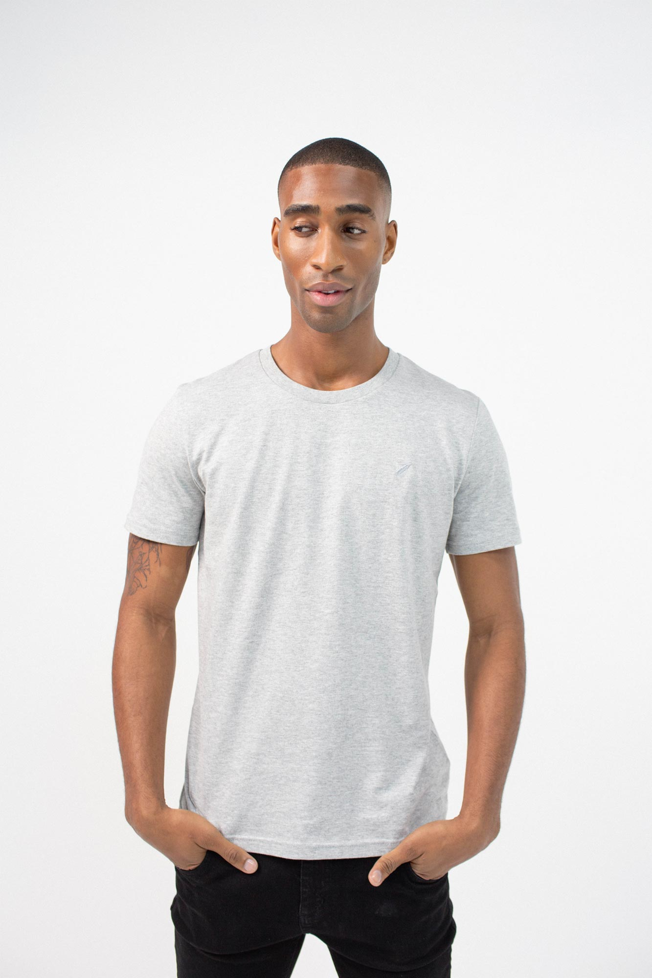 BenedictRaven Studio 0127 1 - Lounge T-Shirt Grey