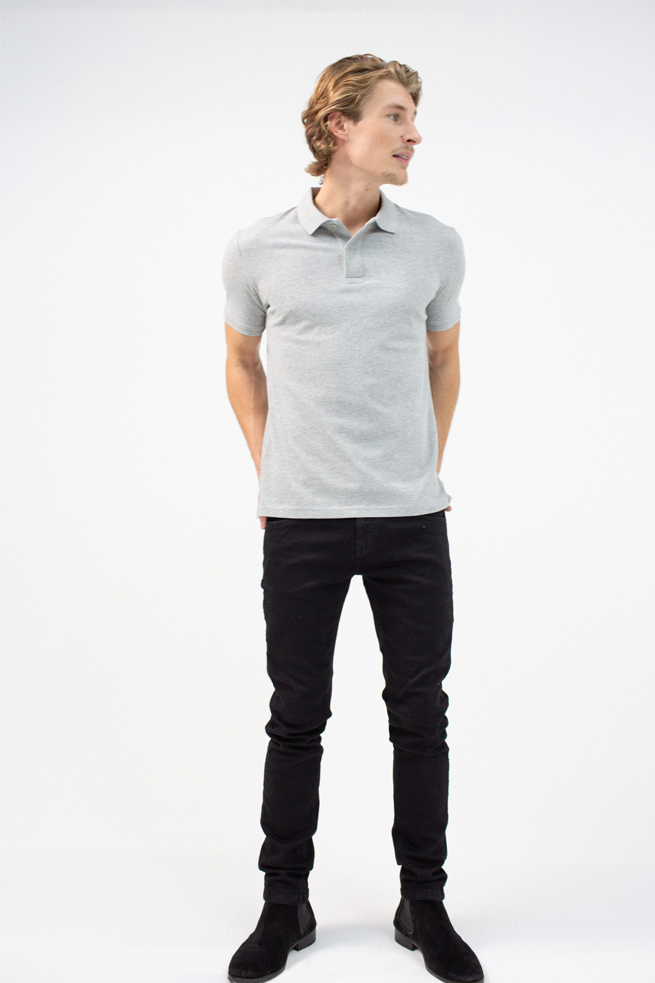 BenedictRaven Studio 043 1 - Club Polo Shirt Grey