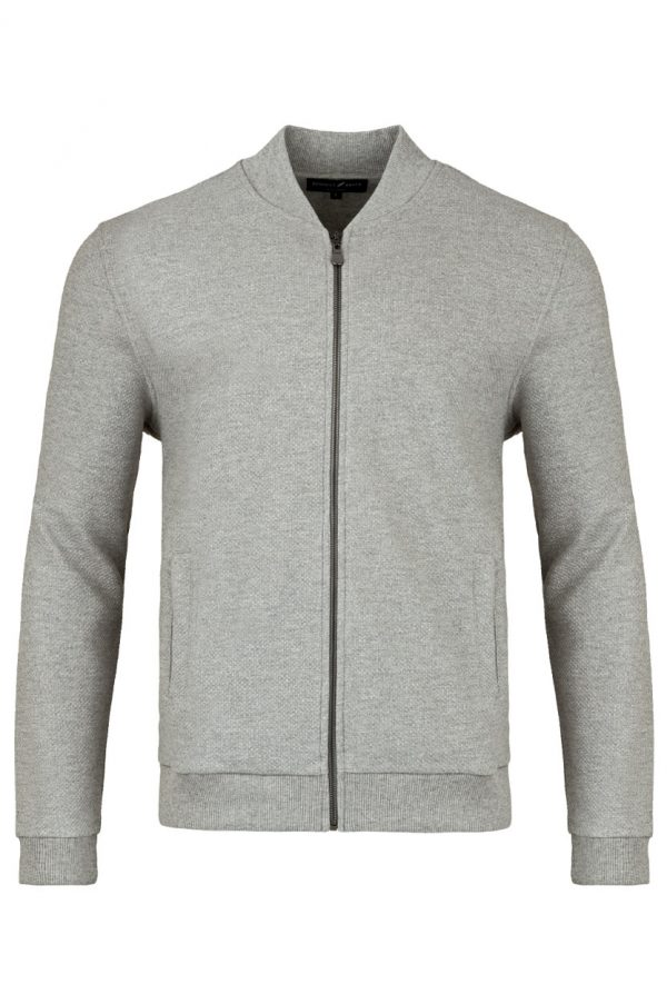 Luxe Grey Front - Luxe Bomber Jacket Dove Grey