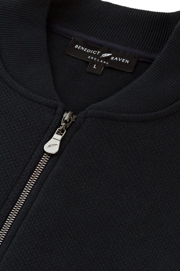 Luxe Navy Detail - Luxe Bomber Jacket Midnight Navy