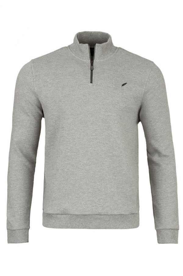 Touring Front - Touring Zip Neck Dove Grey